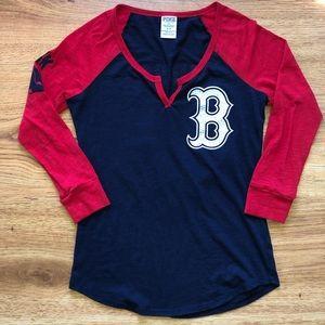 Victoria's Secret Boston Red Sox Baseball Tee S